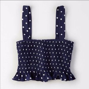 American Eagle polka dot crop top
